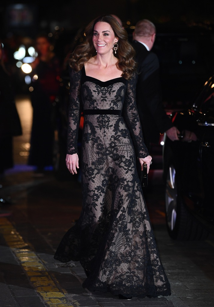 kate middleton, alexander mcqueen dress, prince williams, pda, classic black pumps, stilettos, shoe style, alexander mcqueen gown, Catherine Duchess of Cambridge and Prince WilliamThe Royal Variety Performance, Arrivals, London Palladium, UK - 18 Nov 2019 Catherine Duchess of Cambridge and Prince WilliamThe Royal Variety Performance, Arrivals, London Palladium, UK - 18 Nov 2019Kate Duchess of CambridgeThe Royal Variety Performance, Arrivals, London Palladium, UK - 18 Nov 2019