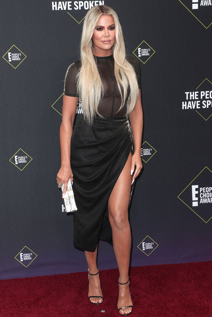Khloe Kardashian, People's Choice Awards, black dress