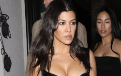 Kourtney Kardashian, black dress, lbd, los