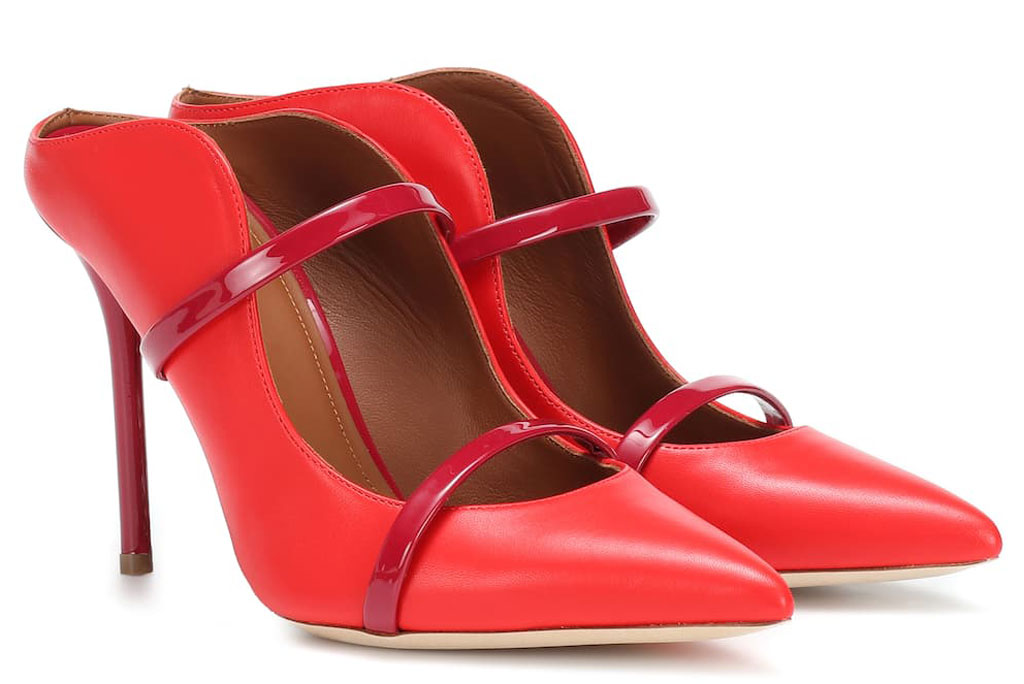 Malone Souliers, maureen, mules, red shoes