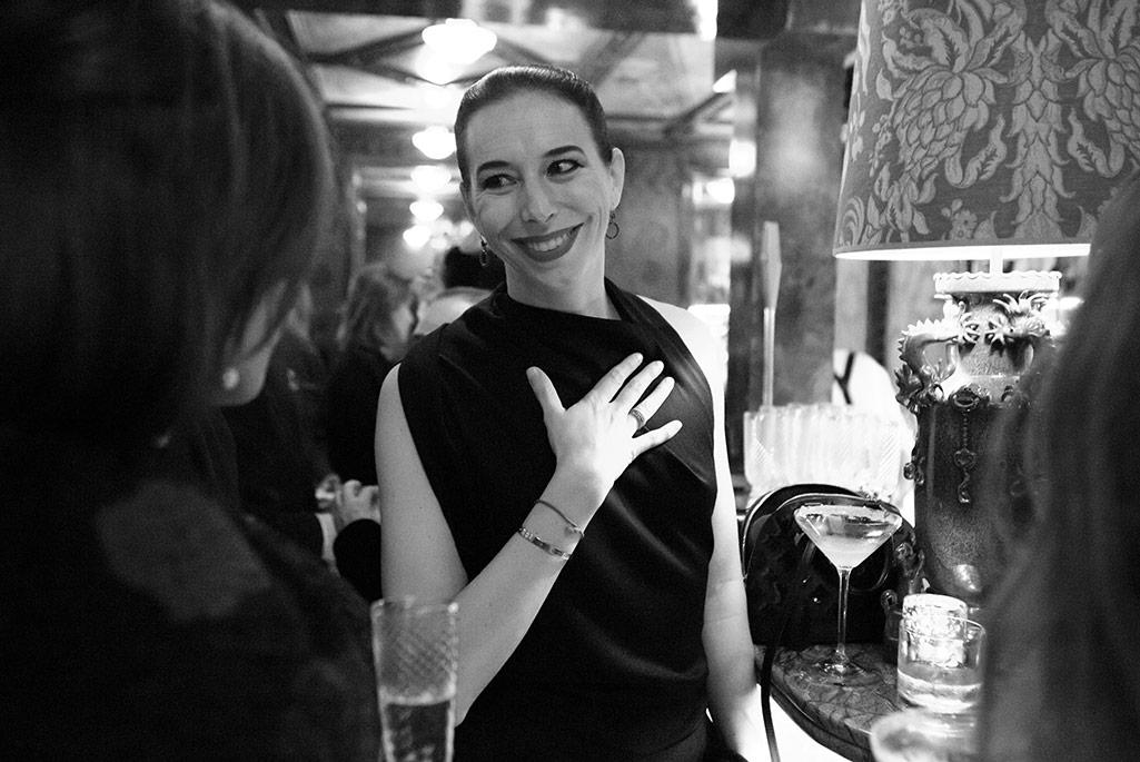 Manolo Blahnik CEO Kristina Blahnik at Laperouse dinner in Paris.