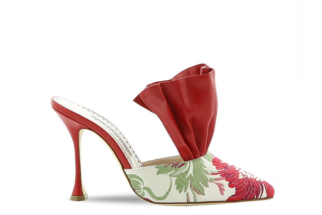 Manolo Blahnik Paris Galerie Royale boutique exclusive shoe.