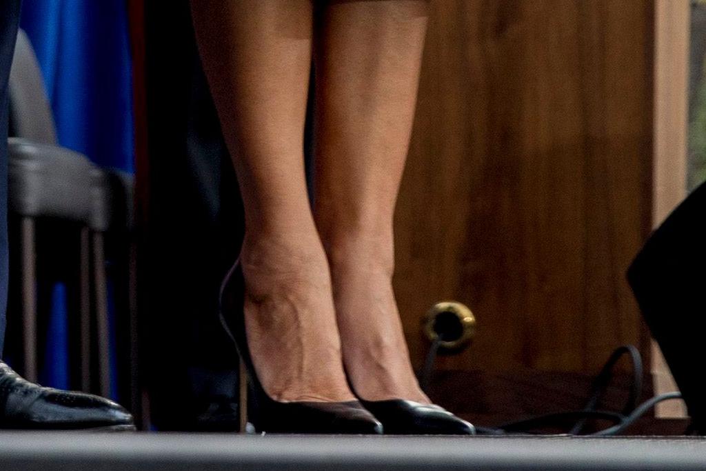 Veterans Day Parade, new york, donald trump, melania trump, president, heels