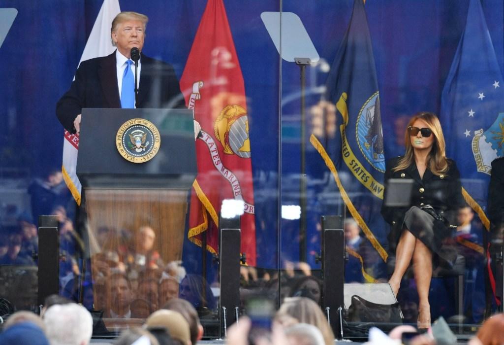 Veterans Day Parade, new york, donald trump, melania trump, president