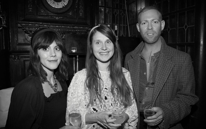Cassie Smart, Cecilie Bahnsen and Damien Paul at Matches Fashion Designers of Imagination event in Paris.