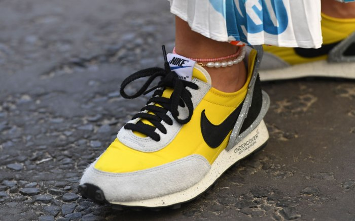 Nike x Undercover, london fashion week, yellow sneakers