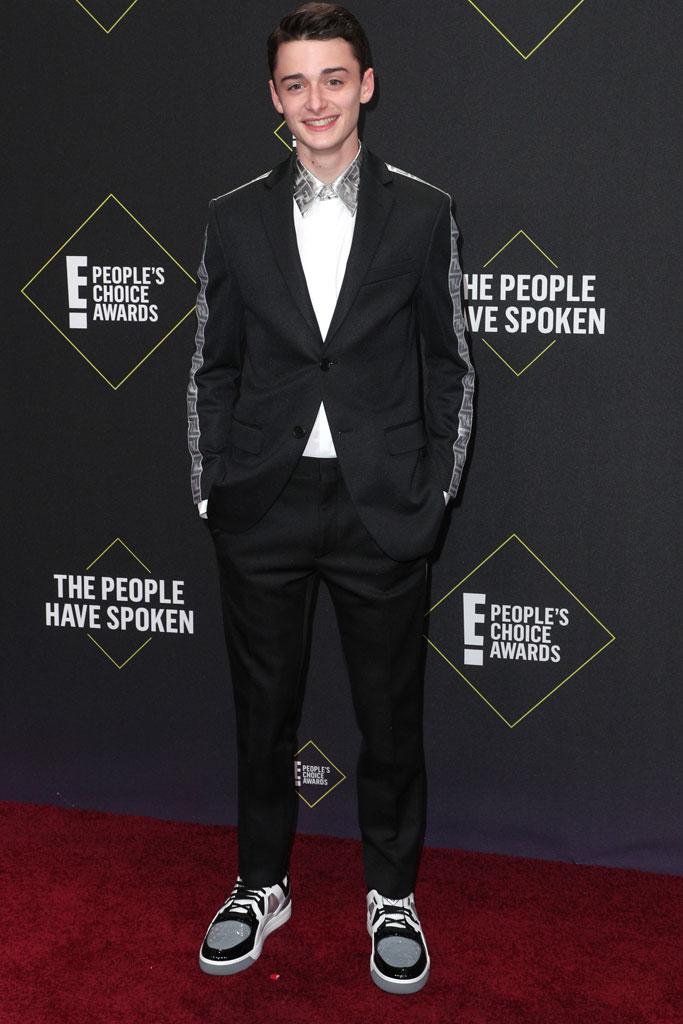 Noah Schnapp, People's Choice Awards, black suit, Fendi