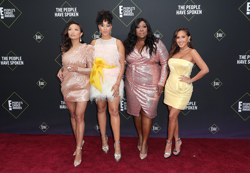 Jeannie Mai, Tamara Mowry-Housley, Loni Love and Adrienne Houghton45th Annual People's Choice Awards, Arrivals, Barker Hanger, Los Angeles, USA - 10 Nov 2019