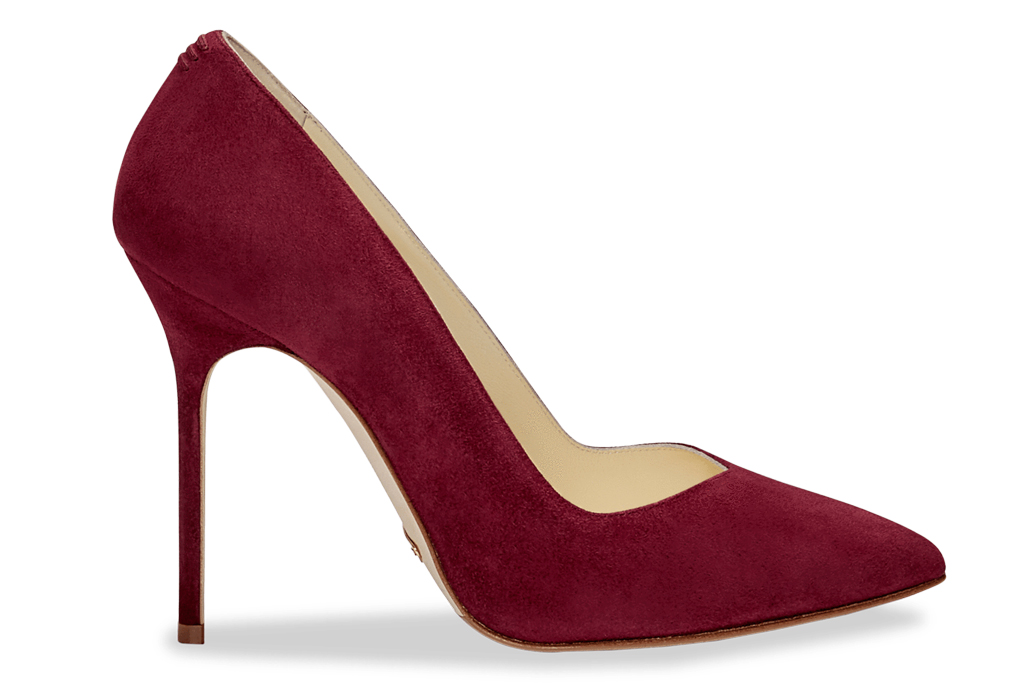 sarah flint, pump, red