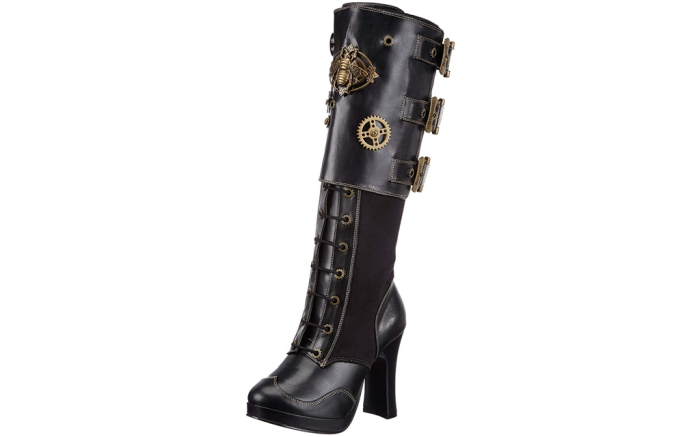 pleaser steampunk boots