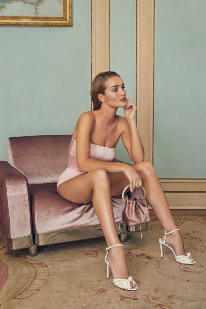Rosie Huntington-Whiteley, in her choos, jimmy choo, ad campaign, resort 2020