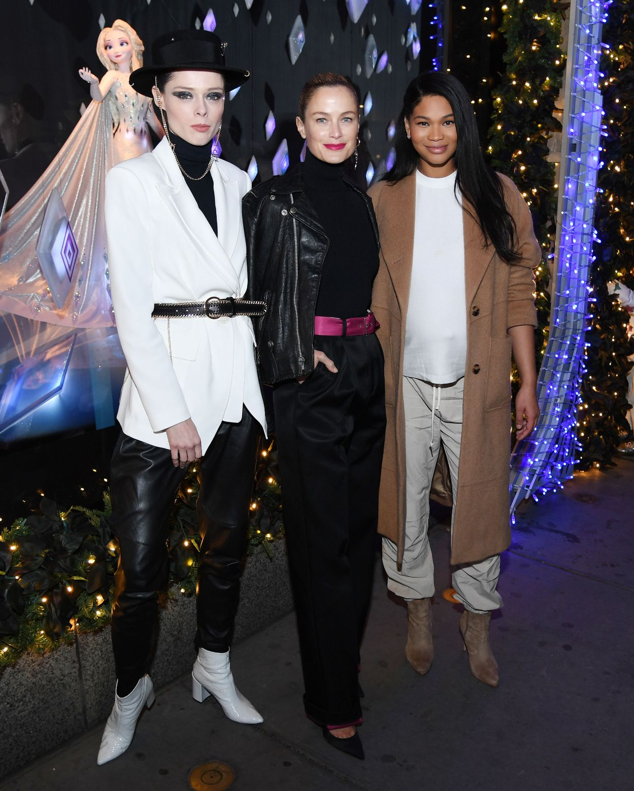 Coco Rocha, Carolyn Murphy, Chanel Iman, saks, window unveil