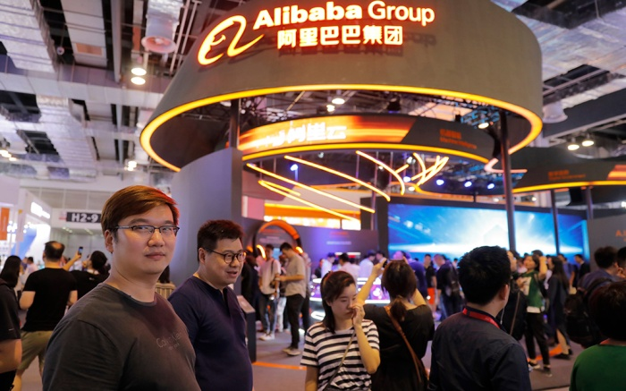 Visitors at Alibaba exhibition area at the World Artificial Intelligence Conference (WAIC) in Shanghai, China, 30 August 2019. The conference with forums and exhibition to discuss the artificial intelligence themes and to present many new artificial intelligence products, runs from 29 to 31 August 2019.World Artificial Intelligence Conference (WAIC) in Shanghai, China - 30 Aug 2019
