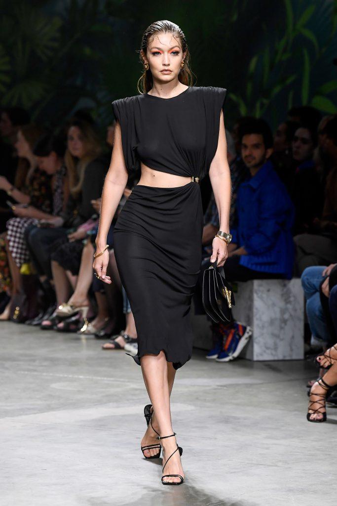 Gigi Hadid on the catwalkVersace show, Runway, Spring Summer 2020, Milan Fashion Week, Italy - 20 Sep 2019