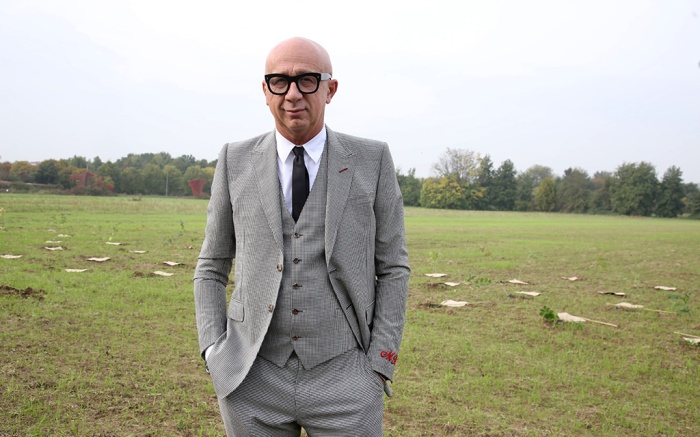Marco Bizzarri Planting 200 trees donated by Gucci, North Park, Milan, Italy - 23 Oct 2019