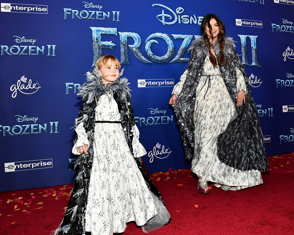 Gracie Elliot Teefey and Selena Gomez'Frozen II' film premiere, Arrivals, Dolby Theatre, Los Angeles, USA - 07 Nov 2019Both Wearing Marc Jacobs Same Outfit as catwalk model *10104053ap