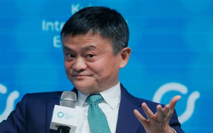 Jack Ma, co-founder and former executive chairman of Chinese e-commerce company Alibaba Group attends the Kyiv International Economic Forum in Kiev, Ukraine, 08 November 2019. The Kyiv International Economic Forum is an annual international forum which brings together Ukrainian government officials, business representatives, economists, scientists and investors and runs from 08 to 09 November 2019.Kyiv International Economic Forum, Kiev, Ukraine - 08 Nov 2019