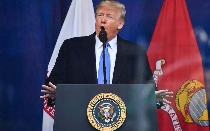 Donald Trump Veterans Day Parade, New York, USA - 11 Nov 2019