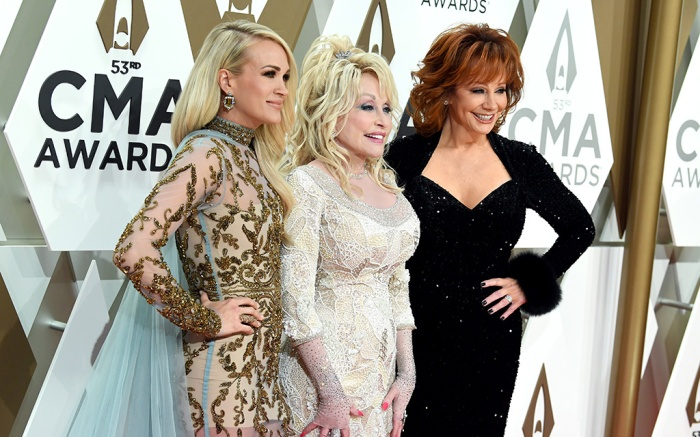 Carrie Underwood, Dolly Parton and Reba McEntire53rd Annual CMA Awards, Arrivals, Bridgestone Arena, Nashville, USA - 13 Nov 2019
