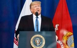 United States President Donald Trump speaks