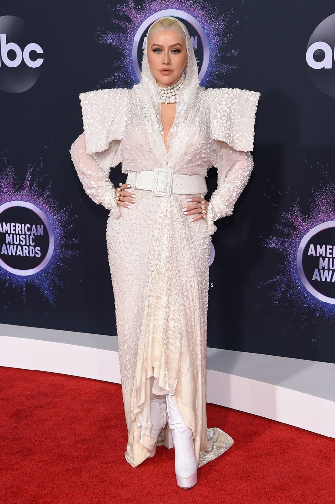 Christina Aguilera, Jean Paul Gaultier, 47th Annual American Music Awards, Fashion Highlights, Microsoft Theater, Los Angeles, USA - 24 Nov 2019