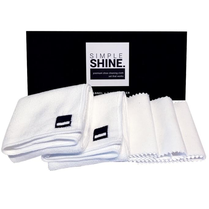simple shine set of shoe cloths