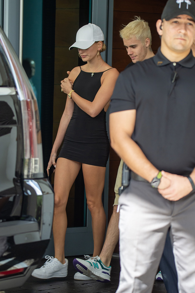 Justin and Hailey Bieber are seen leaving their Miami Beach hotelPictured: Justin Bieber,Hailey BieberRef: SPL5132400 291119 NON-EXCLUSIVEPicture by: AM / SplashNews.comSplash News and PicturesLos Angeles: 310-821-2666New York: 212-619-2666London: +44 (0)20 7644 7656Berlin: +49 175 3764 166photodesk@splashnews.comWorld Rights