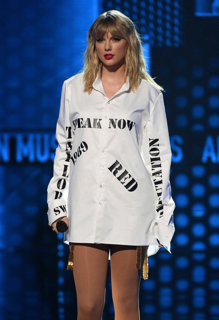Taylor Swift, winner of the artist of the decade award, performs a medley at the American Music Awards, at the Microsoft Theater in Los Angeles2019 American Music Awards - Show, Los Angeles, USA - 24 Nov 2019