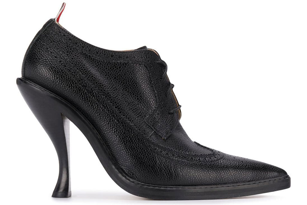 Thom Browne, longwing, curved heel , brogues