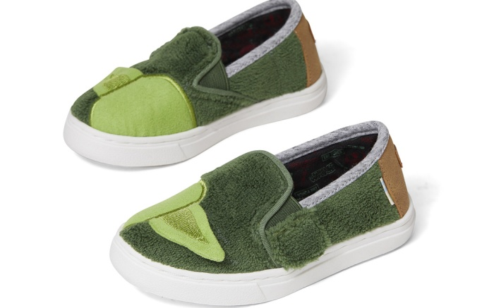 toms, star wars shoes, yoda kids shoes
