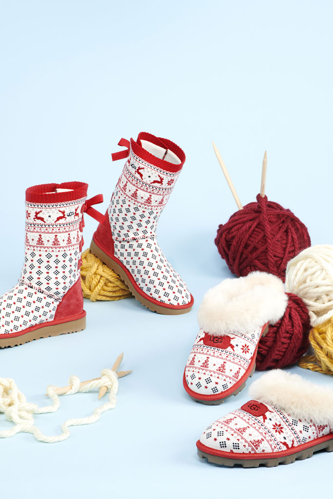 Ugg x Zappos, holiday sweater, festive, collaboration, boots, slippers