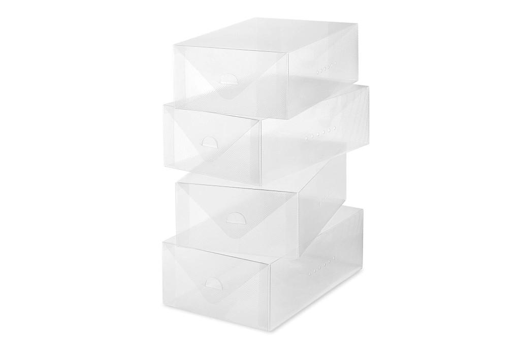 Whitmor Clear Vue Women's Shoe Box