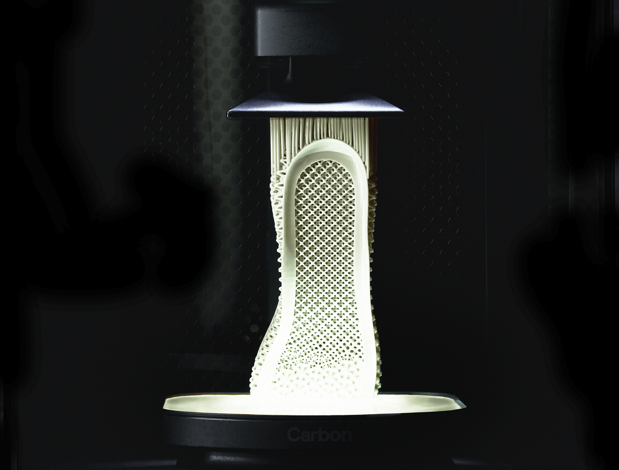 Carbon 3D printer making end part components for footwear
