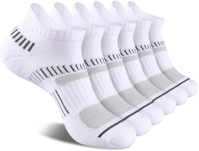 Cooplus Athletic Ankle Socks, best white gym socks for men