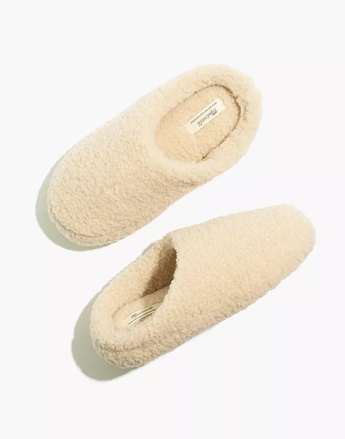 Madewell Sherpa slippers