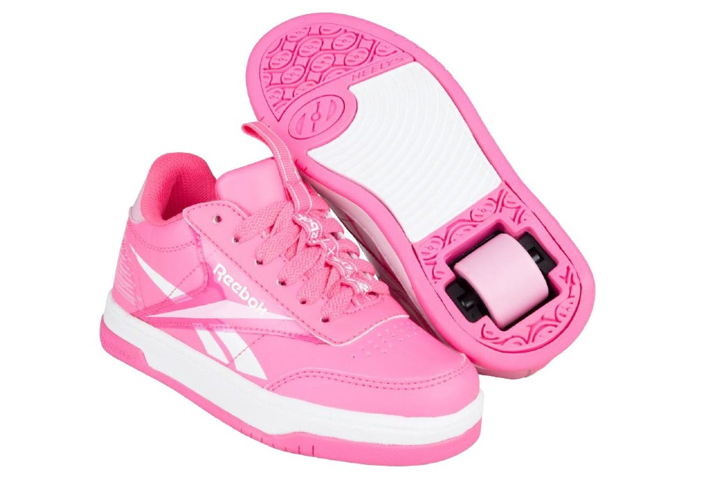 Heelys x Reebok Court Trainers, wheeled shoes for girls