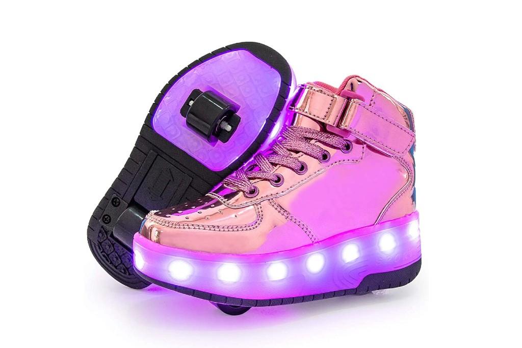 Wajin Light Up Roller Shoes, wheeled shoes for girls