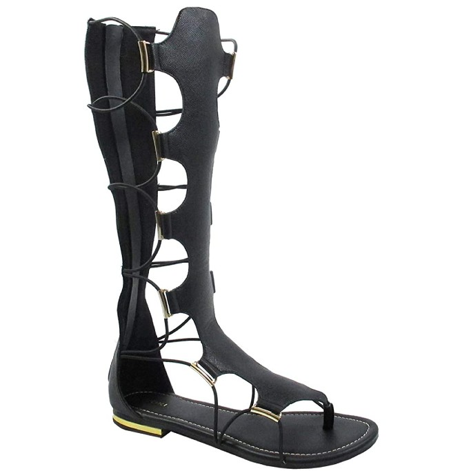 Yoki Anya Knee-High Gladiator Sandals, gladiator sandals