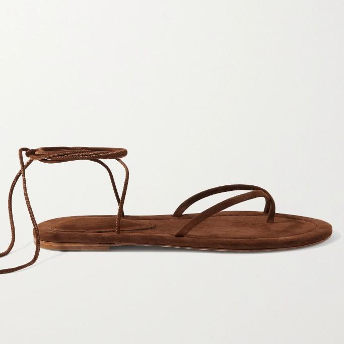 Porte & Paire Suede Sandals, gladiator sandals
