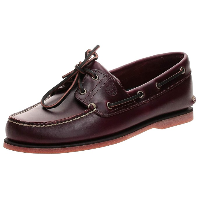leather moccasins for men, Timberland Men's Classic 2-Eye Boat Shoe