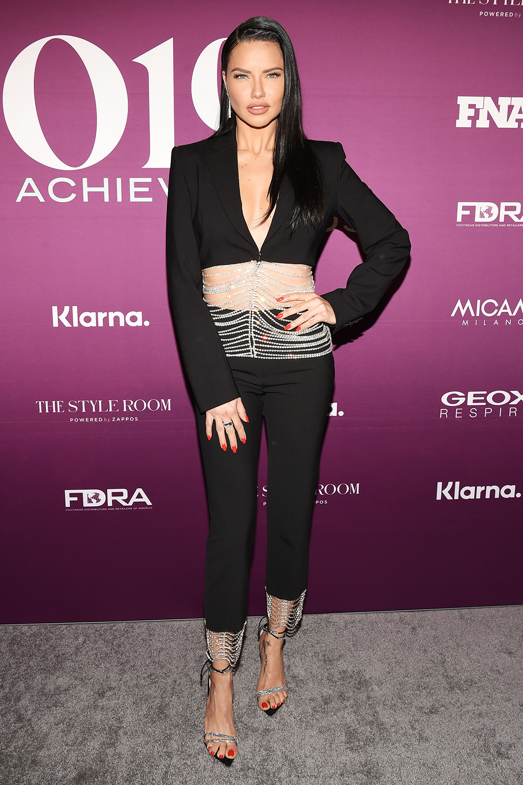 Adriana Lima, abs, red carpet, celebrity style, fnaas, 33rd Annual Footwear News Achievement Awards, Arrivals, New York, USA - 03 Dec 2019