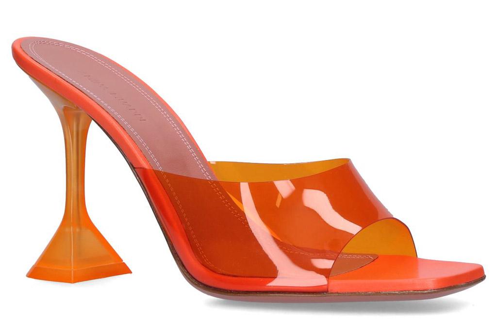 Amina Muaddi , lupita, orange sandals