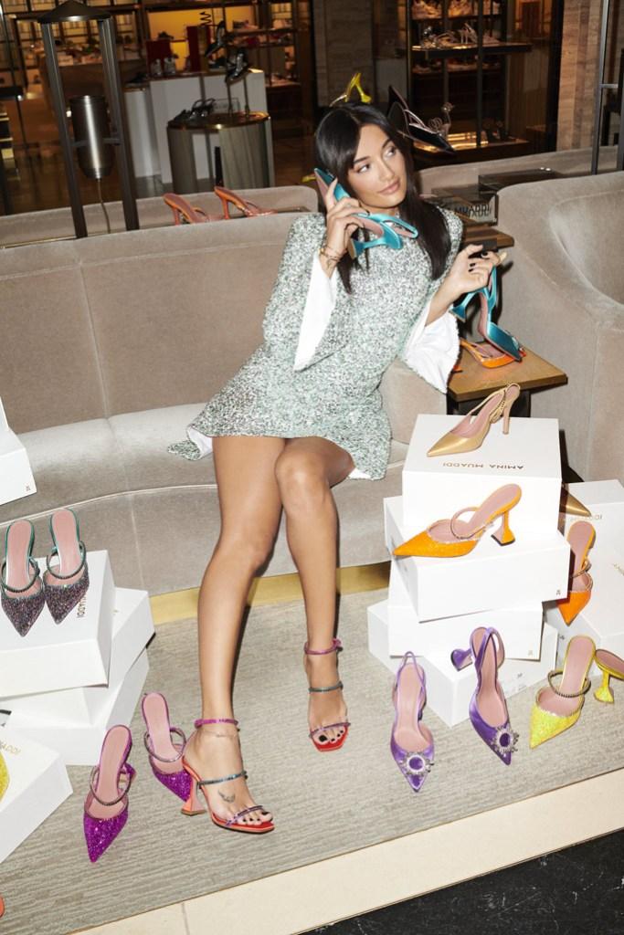 Amina Muaddi, harrods, capsule collection, shoes