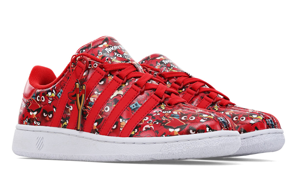 Angry Birds, K-Swiss, sneakers, forever red, red shoes, angry birds sneakers