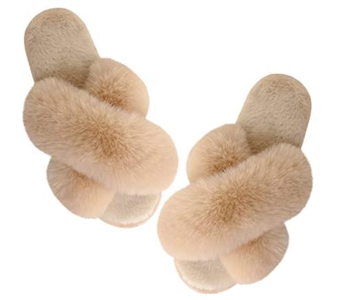 Barlove fuzzy slippers
