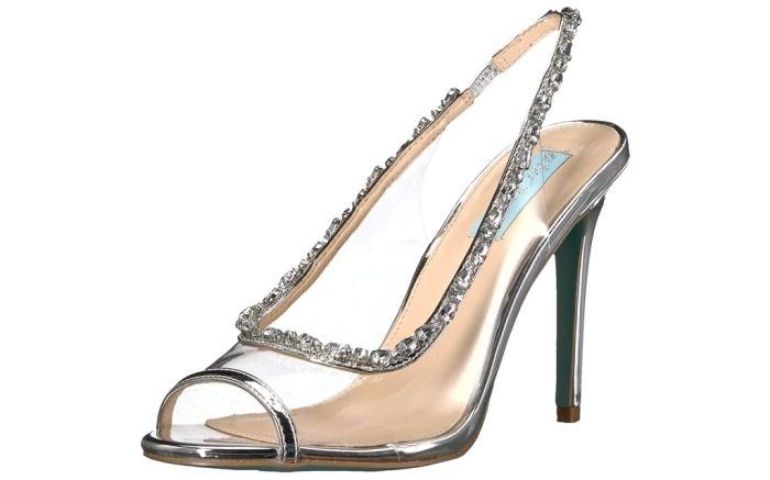 betsey johnson clear pumps