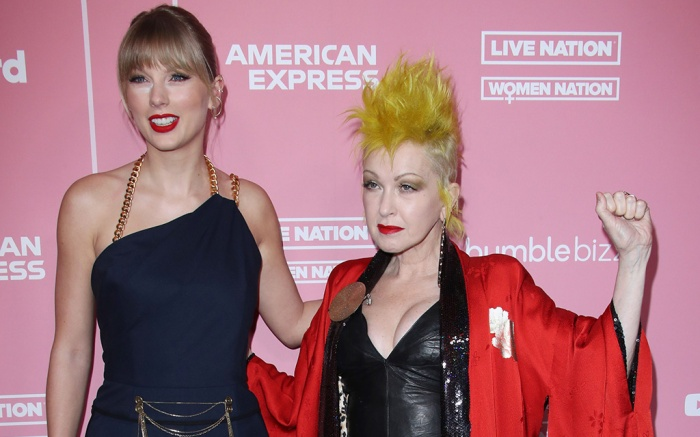 Taylor Swift and Cyndi LauperBillboard Women in Music, Arrivals, Hollywood Palladium, Los Angeles, USA - 12 Dec 2019