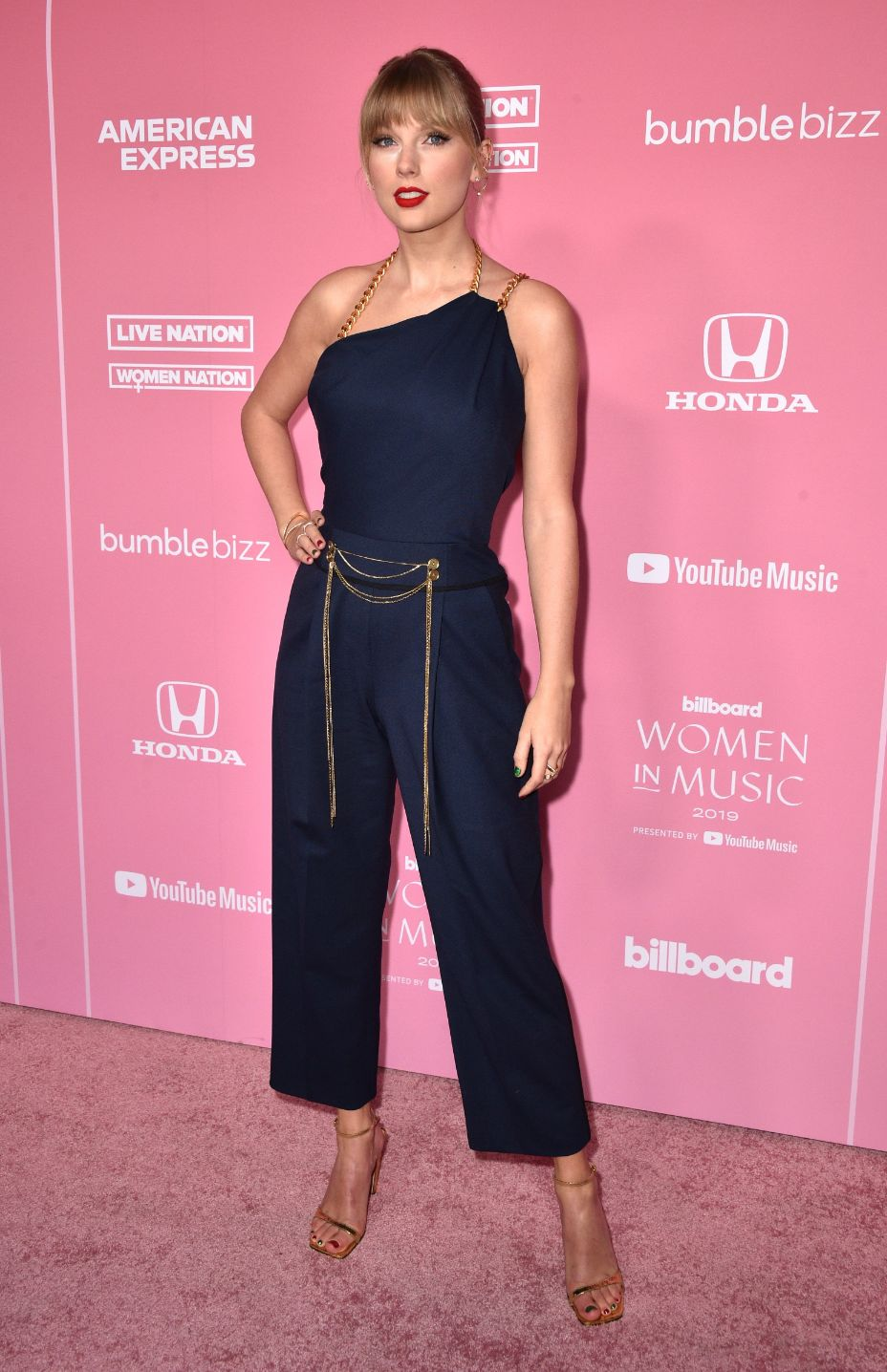 2019 Billboard Women in Music, taylor swift, jumpsuit, gold heels