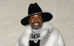 Billy Porter, fur coat, fox fur,