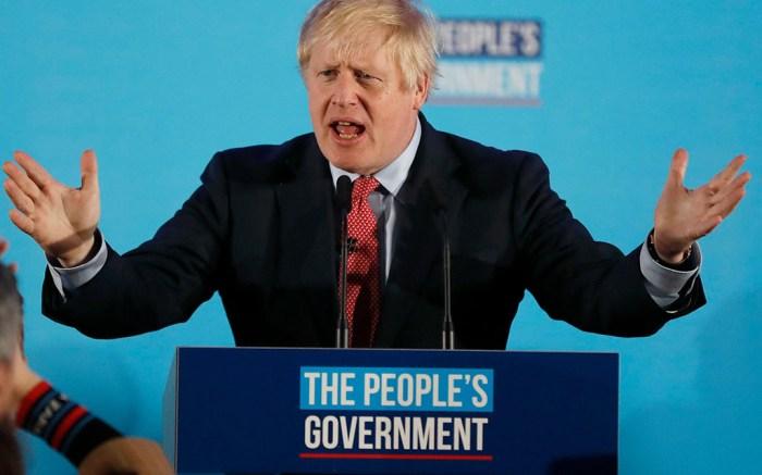 British Prime Minister Boris Johnston following his UK election win.